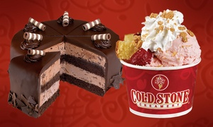 Cold Stone Creamery: Like It–Sized Create Your Own Creations with Mix-In, or Large Round Cake at Cold Stone Creamery (Up to 39% Off)