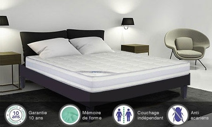 matelas m moire de forme ergosens groupon shopping. Black Bedroom Furniture Sets. Home Design Ideas