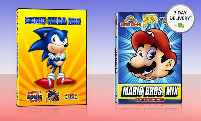Sonic And Mario Cartoon Mega Mix Groupon Goods