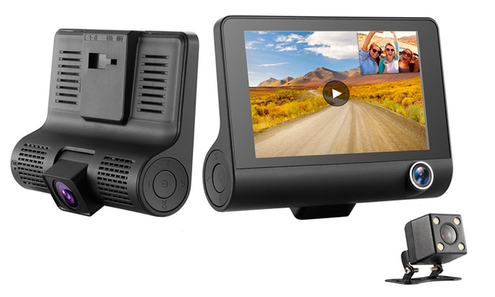 Apachie Burg Three-Lens HD Car Dash Camera with Optional 16GB SD Card from £34.99