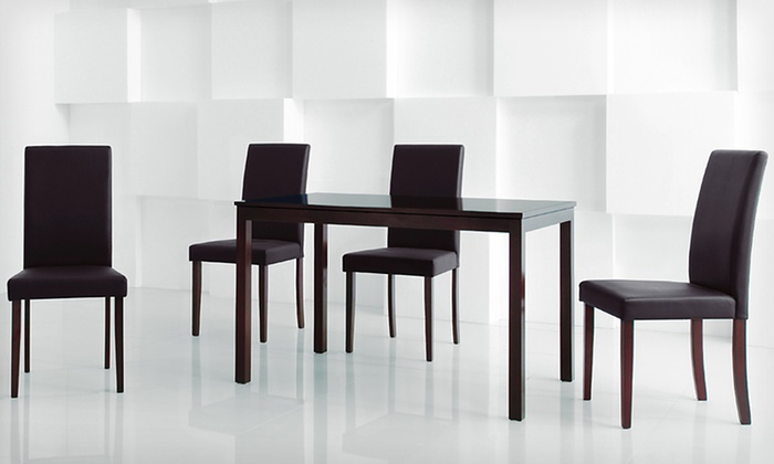 gg baxton studio 5 piece modern dining set 2. baxton studio five-piece dining set: modern set gg 5 piece 2 r