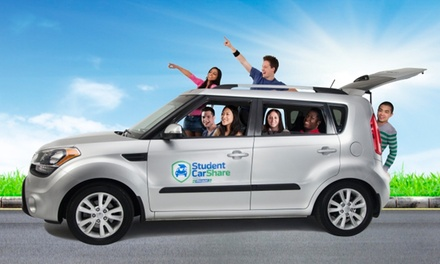 $35 for One-Year Student Car Share Membership with $25 Ride Credit from Student Car Share ($100 Value)