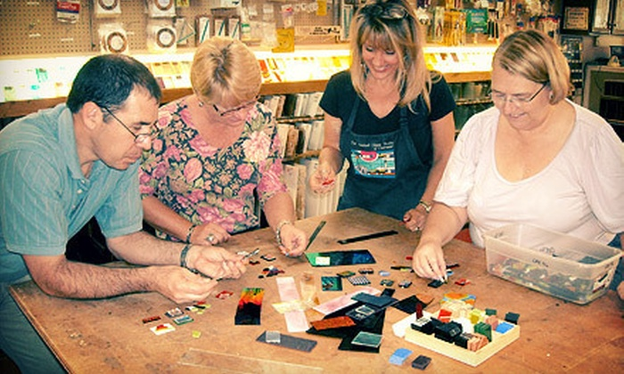 The Stained Glass Studio of Clearwater - Clearwater: One-Hour Fused Dichroic Glass Pendant Class for One or Two at The Stained Glass Studio of Clearwater (Up to 53% Off)