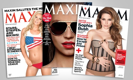One- or Two-Year Subscription to Maxim Magazine