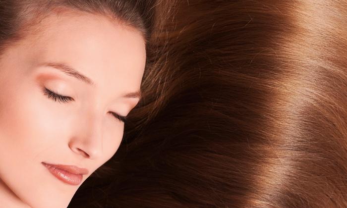Freddy at May's Unisex Hair and Nail Salon - Pompano Beach: Haircut, Keratin, or Full Highlights with Freddy at May's Unisex Hair and Nail Salon (Up to 67% Off)