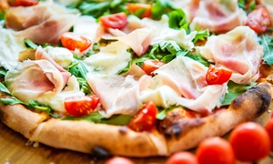 Trattoria Pizzeria Bar Italia: Menu pizza con patatine fritte e birra