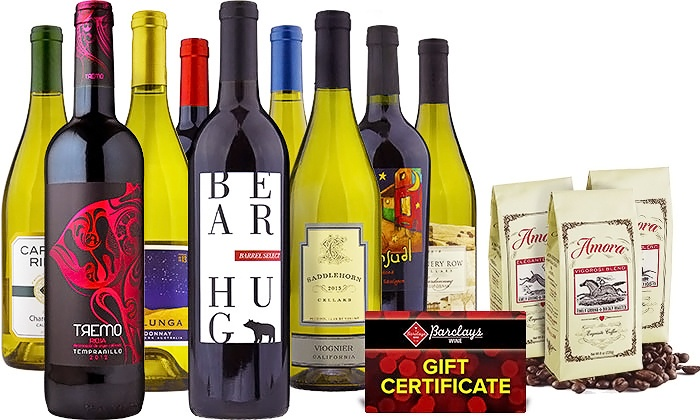 Barclays Wine: Wine, Amora Coffee, and Gift Cards from Barclays Wine (Up to 76% Off). Two Options Available.