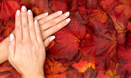 Pumpkin-Spice Pedi w/ Hands Gel Polish or Pumpkin-Spice Mani-Pedi for 1 or 2 at Carousel Salon (Up to 56% Off)