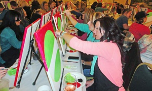 Wine and Palette: Three-Hour Painting Class for One or Two at Wine and Palette (Up to 58% Off)