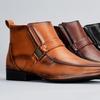 Bonafini Men's Embossed Buckled Dress Boots