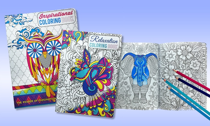 Adult Coloring Book Bundle 2 Books