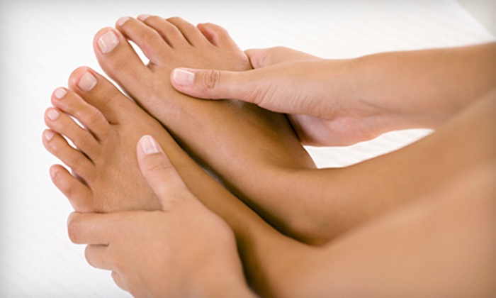 Aesthetics Anti-Aging Center - North Macon: One or Three Gel Manicures with or without Spa Pedicures at Aesthetics Anti-Aging Center in Macon (Up to 65% Off)