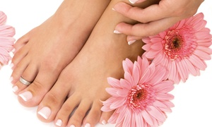 Hair Elegance Nails: $45 for Super Deluxe Mani-Pedi at Hair Elegance Nails ($90 Value)