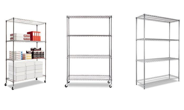 Alera Wire Shelving Unit: Alera Complete Wire Shelving Unit. Free Shipping and Returns.