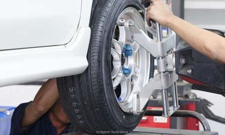 Tire Mounting with Optional Balance at National Tire & Auto Repair (Up to 52% Off). Three Options Available.