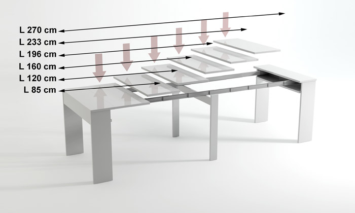Console extensible groupon shopping for Table blanche extensible 12 personnes