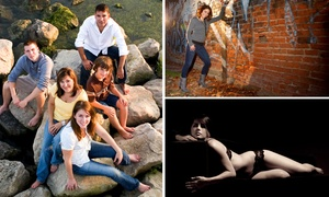 Eclipse Studios: On-Location Senior or Family Portrait or In-Studio Boudoir Session at Eclipse Studios (Up to 67% Off)