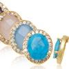 4 CTTW Genuine Gemstone & Swarovski Elements Earrings
