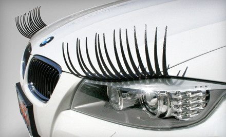 Headlight Eyelashes from CarLashes (Half Off). Two Options Available.