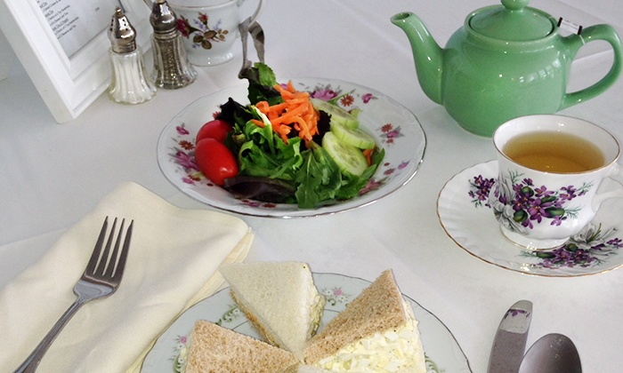 Tea with Tracy - Seymour: Afternoon Tea with Sandwiches and Salads for Two or Four at Tea with Tracy (Up to 50% Off)