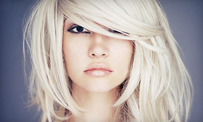 Caposhi Salon & Spa - Old Colorado City: Women's Haircut with a Deep-Conditioning Treatment or Partial Highlights at Caposhi Salon & Spa (Up to 52% Off)