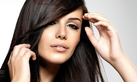 Haircut, MoroccanOil Treatment, and Clear Gloss or Color Single-Process Color at Salon Revive (Up to 73% Off)