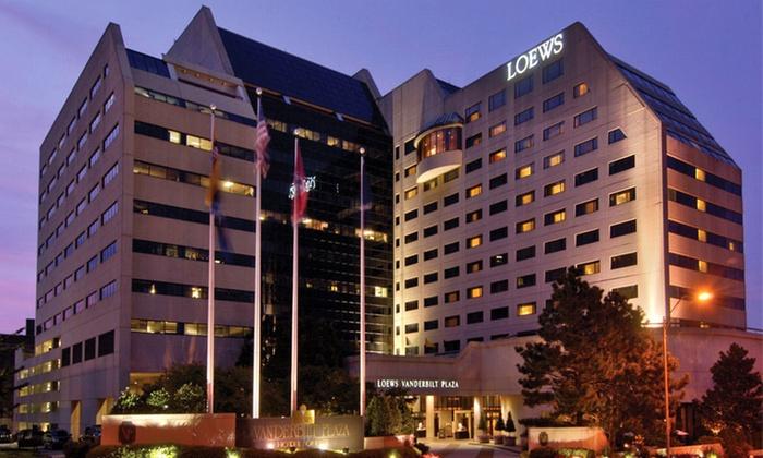 Loews Vanderbilt Hotel  - Nashville-Davidson metropolitan government (balance): $145 for One-Night Stay with Dining Credit and Valet Parking at Loews Vanderbilt Hotel in Nashville ($240 Value)