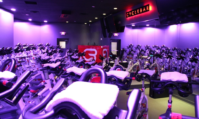 CycleBar - Cincinnati: $39 for Four Premium Indoor Cycling Sessions with Water Bottle at CycleBar ($85 Value)