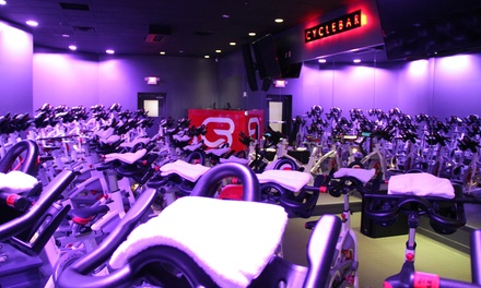 $39 for Four Premium Indoor Cycling Sessions with Water Bottle at Cycle Bar ($85 Value)