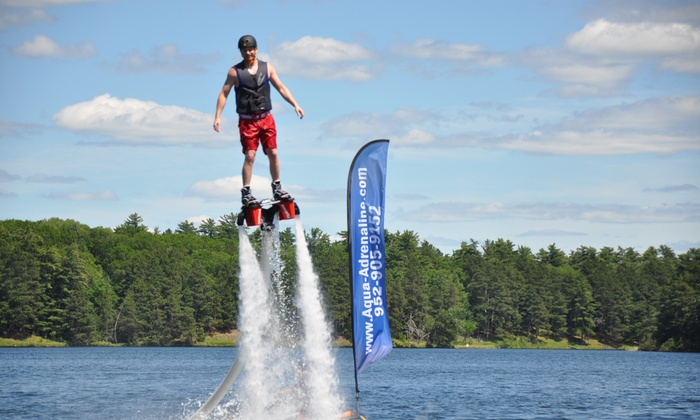 Aqua Adrenaline - Prior Lake: 30-Minute Flyboarding Experience for One or Two at Aqua Adrenaline (Up to 55% Off)