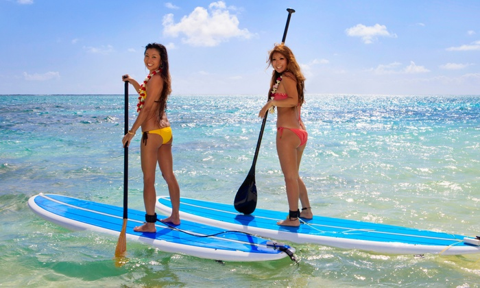 Long Island Stand-Up Paddle Boarding Co. - Multiple Locations: Paddleboard Lesson for One or Two from Long Island Stand-Up Paddle Boarding Co. (Up to 57% Off). Three Options.