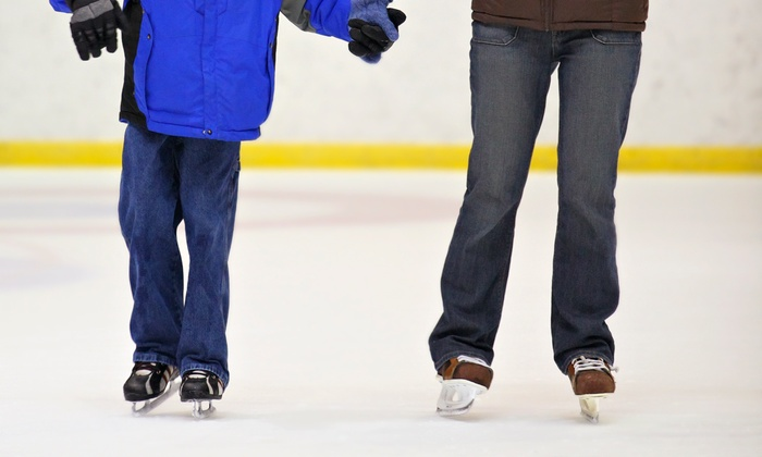 SJCH Ice Center of Bakersfield - Downtown Bakersfield: Public Skating Admission and Skate Rental for Two or Four at SJCH Ice Center of Bakersfield (Up to 50% Off)