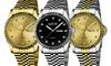 August Steiner Men's Diamond Bracelet Watch