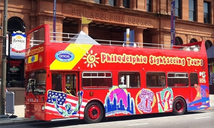 Philadelphia Sightseeing Tours - Center City East: Historical Hop-On Hop-Off Tour on Double-Decker Bus for One or Four from Philadelphia Sightseeing Tours (Up to 52% Off)