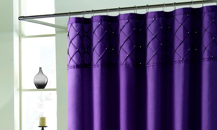 Roxanne Shower Curtain With Rhinestones Groupon