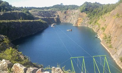 image for 700m Zip Slide Ride For One (£9.50) or Two (£18) at the National Diving and Activity Centre (Up to 53% Off)