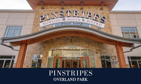 Bowling with Shoe Rental or Bocce at Pinstripes Overland Park (Up to 40% Off). Eight Options Available.