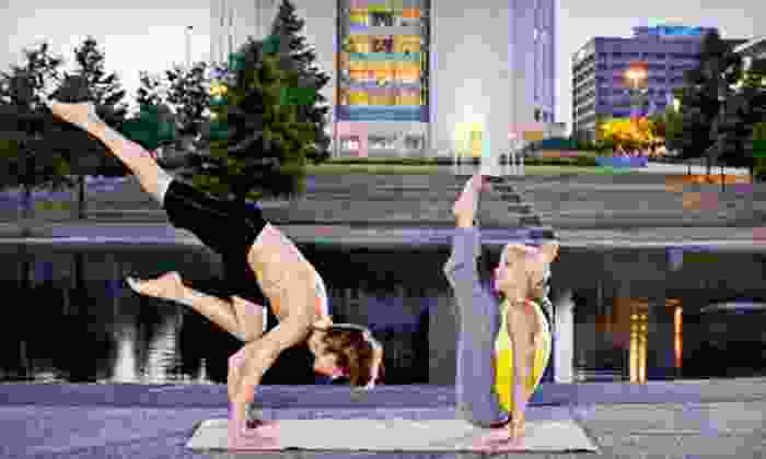Maya Yoga - Crossroads: Three Yoga Classes or One Month of Unlimited Yoga Classes at Maya Yoga (Up to 77% Off)