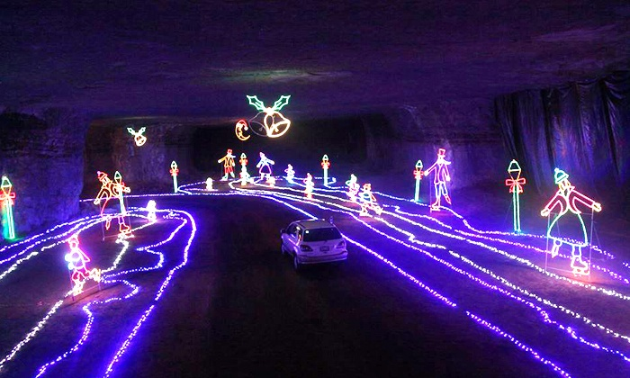 Underground Christmas Light Show - Louisville Mega Cavern | Groupon