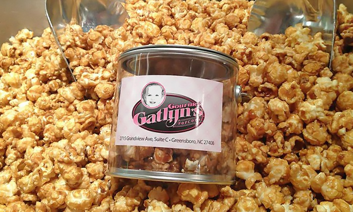 Gourmet Gatlyn's Popcorn - Greensboro: 6- or 10-Visit Punch Card or One Two-Gallon Create-A-Tin at Gourmet Gatlyn's Popcorn (Up to 50% Off)