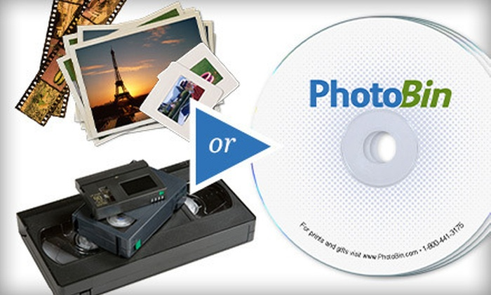 PhotoBin: $39 for Digital Conversion for Up to 350 Still Images or Six Videos from PhotoBin ($109 Value)