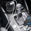 Cup Holder Dual Cigarette Lighter, Dual USB Port Charger