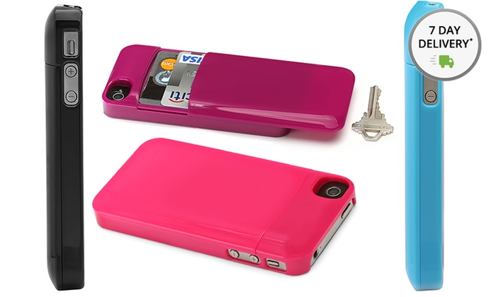 Aduro U-Stash iPhone 4/4S Storage Case: Aduro U-Stash iPhone 4/4S Storage Case in Black, Blue, Pink, or Purple. Free Returns.