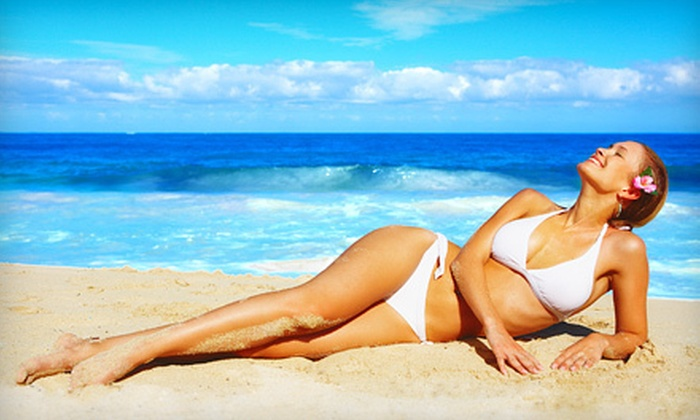 bosTAN - Beacon Hill: One Month of UV Tanning or One or Three Airbrush Tans at bosTAN (Up to 55% Off)