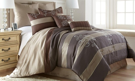8-Piece Jacquard Comforter Sets from $69.99–$79.99