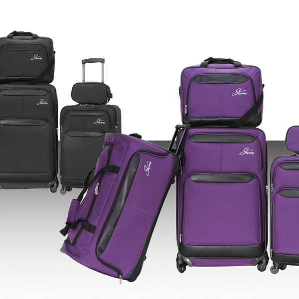 7e6a2f1204d4 Skyway Five-Piece Luggage Set. Two Colors Available. Free Shipping.