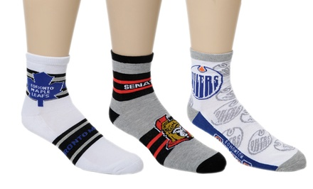 NHL Quarter Length Socks 6-Pack
