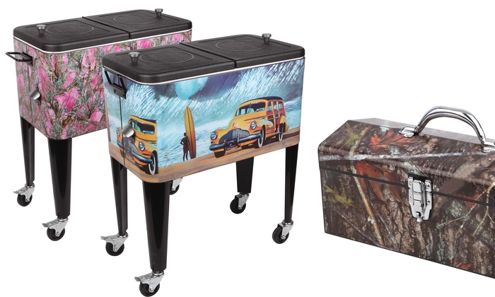 Decorative 60qt. Patio Cooler And Matching Toolbox ...