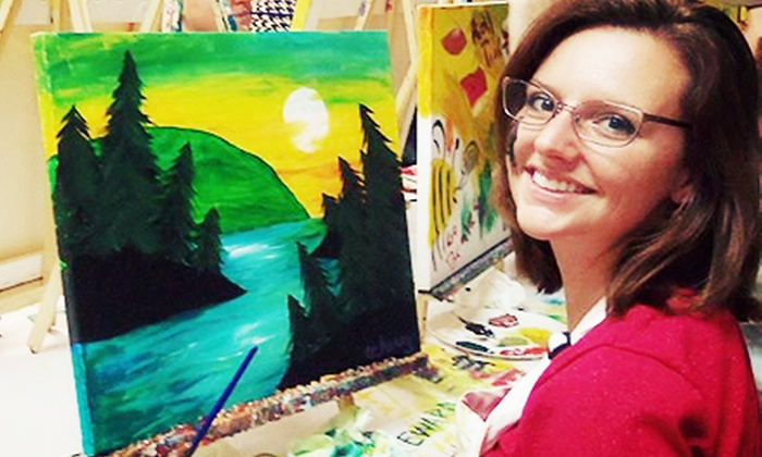 Picasso's Corner - Pleasantville: BYOB Painting Class for 1, 2, or 4 Adults, or Private Painting Party for Up to 10 at Picasso's Corner (Up to 61% Off)