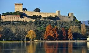 Gite Sul Tevere: Tour in barca con aperitivo e Prosecco sul Lago Trasimeno per 2 o 4 persone con Gite Sul Tevere (sconto fino a 50%)